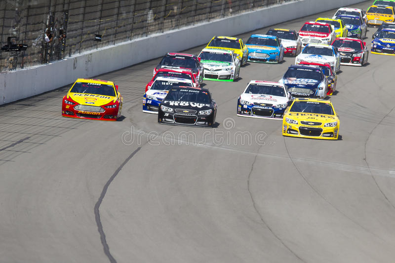 NASCAR 2013: Sprint Cup Series Pure Michigan 400 August 18 royalty free stock photo