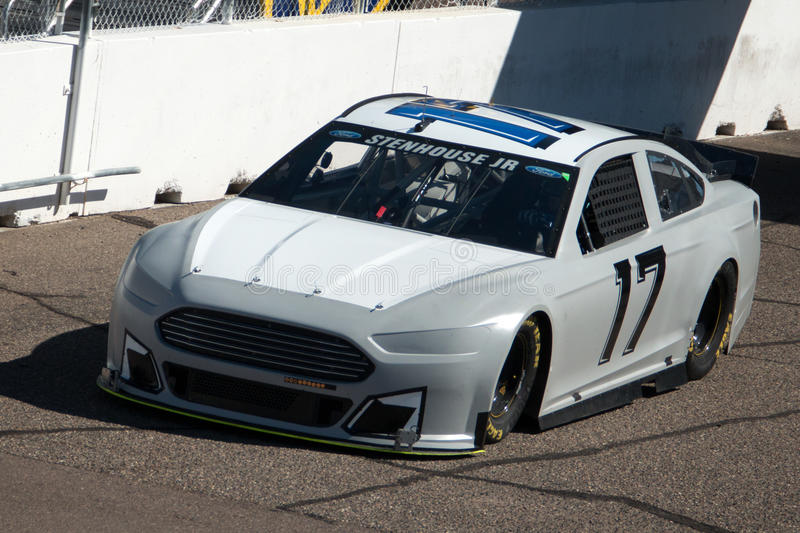 NASCAR Sprint Cup Testing. NASCAR Sprint Cup drivers and their teams tested their cars at Phoenix International Raceway royalty free stock image