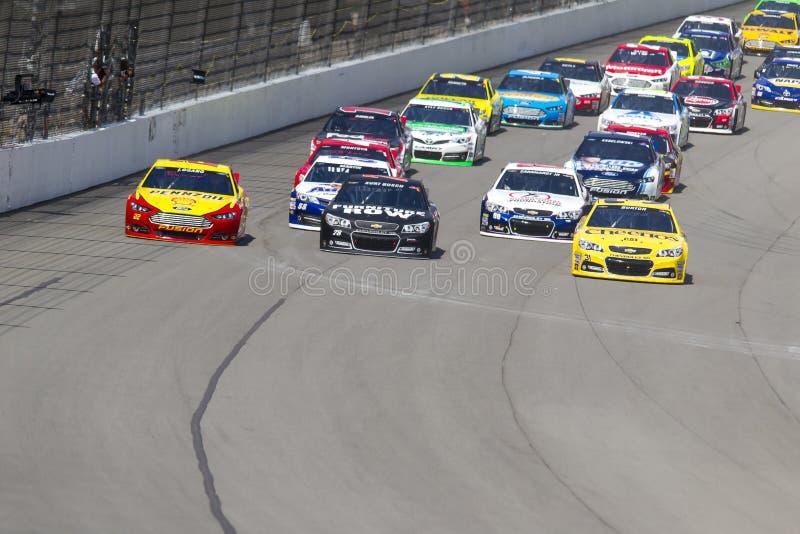 NASCAR 2013:  Sprint tazza serie il Michigan 400 18 agosto puro fotografia stock libera da diritti