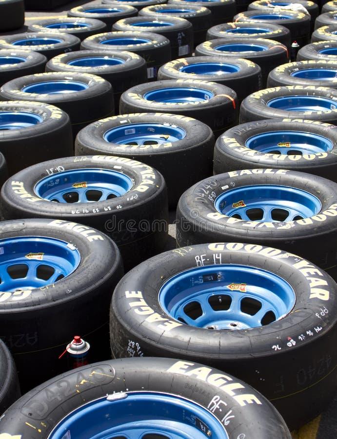 NASCAR sprinten Cup Goodyear, das Gummireifen läuft stockfoto