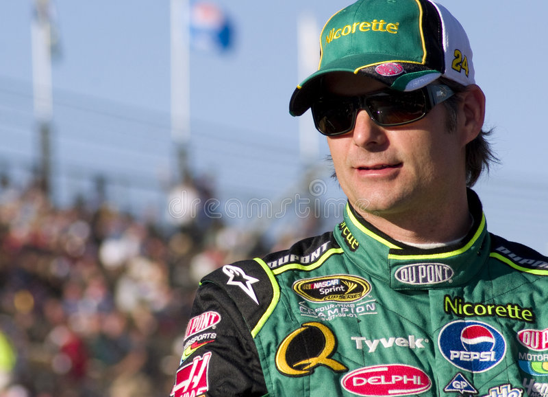 NASCAR sprinten Cuptreiber Jeff Gordon lizenzfreies stockbild