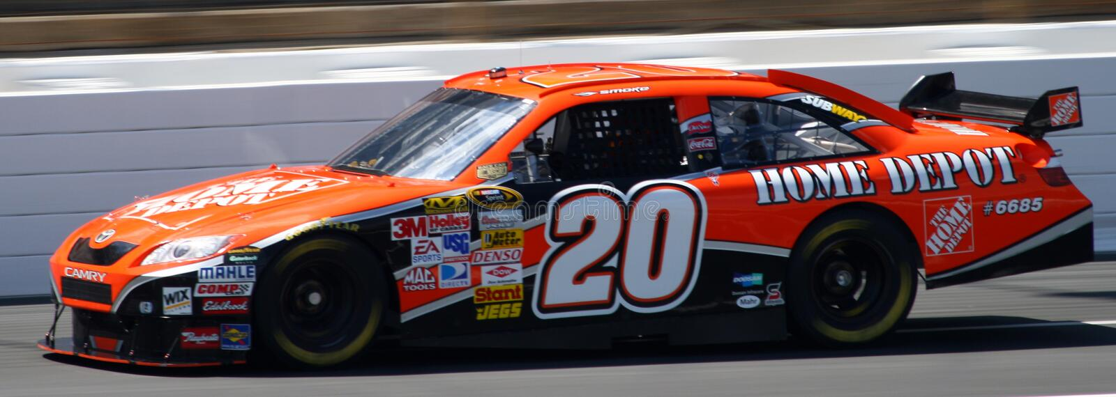 NASCAR - Stewart's #20 Home Depot COT royalty free stock photo