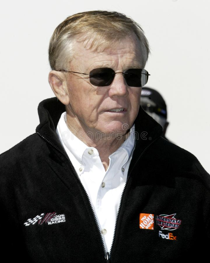 NASCAR Team Owner Joe Gibbs imagens de stock