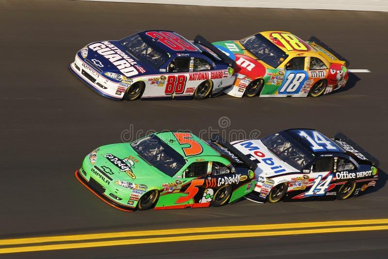 NASCAR: Tiroteio do botão fevereiro de 11 imagens de stock