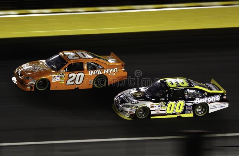 NASCAR - Todas as estrelas Logano e Reutimann fotos de stock