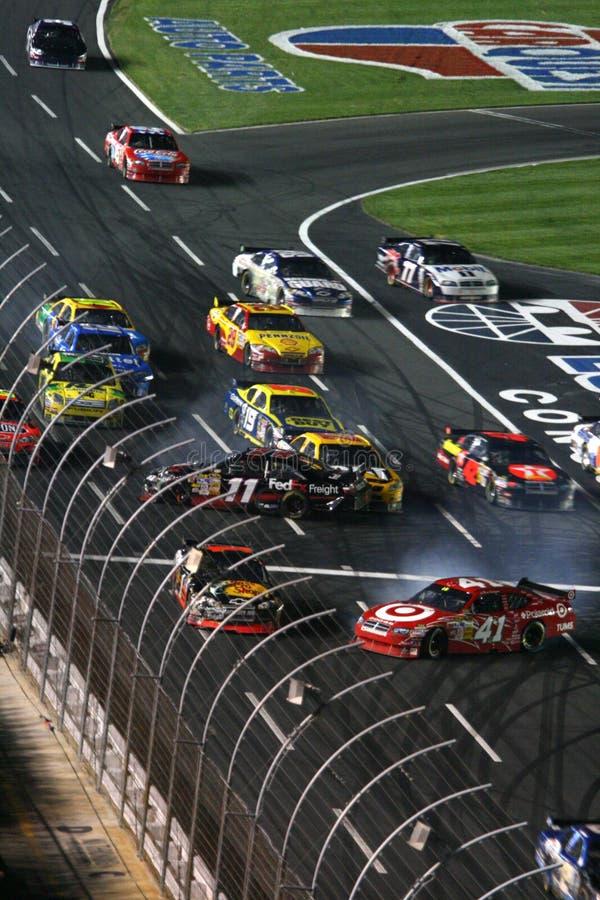 NASCAR - tombez en panne sur le relancement ! images stock