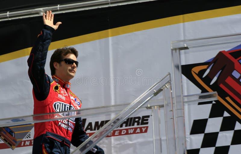 NASCAR Treiber Jeff Gordon in N stockfotografie