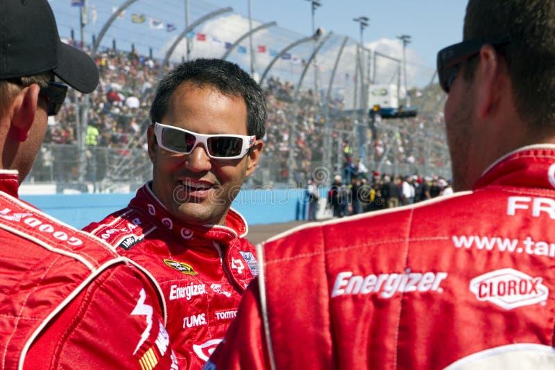 NASCAR Treiber Juan Pablo Montoya stockfotografie