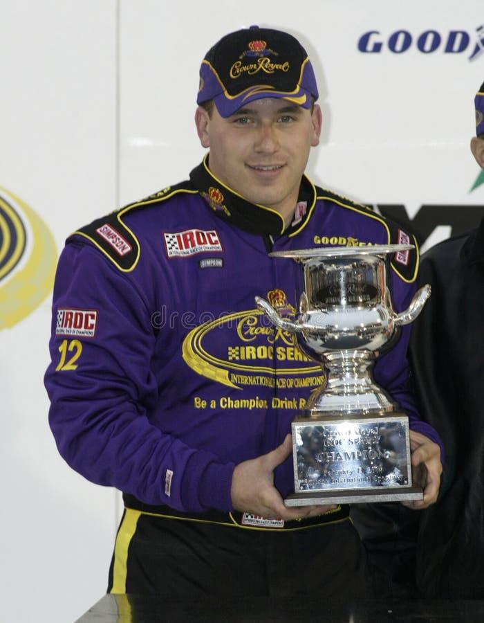 NASCAR Treiber Ryan Newman lizenzfreies stockbild
