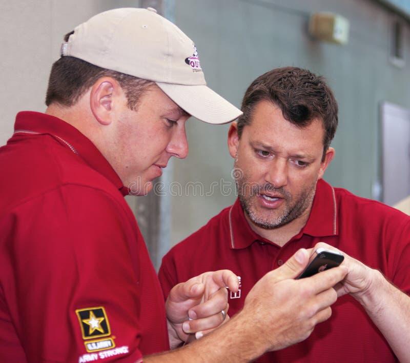 NASCAR Treiber Ryan Newman und Tony Stewart lizenzfreie stockbilder