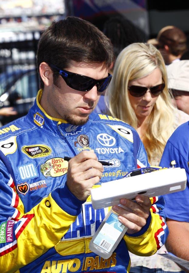 NASCAR - Truex jr.-Zeichen-Autographe lizenzfreies stockbild