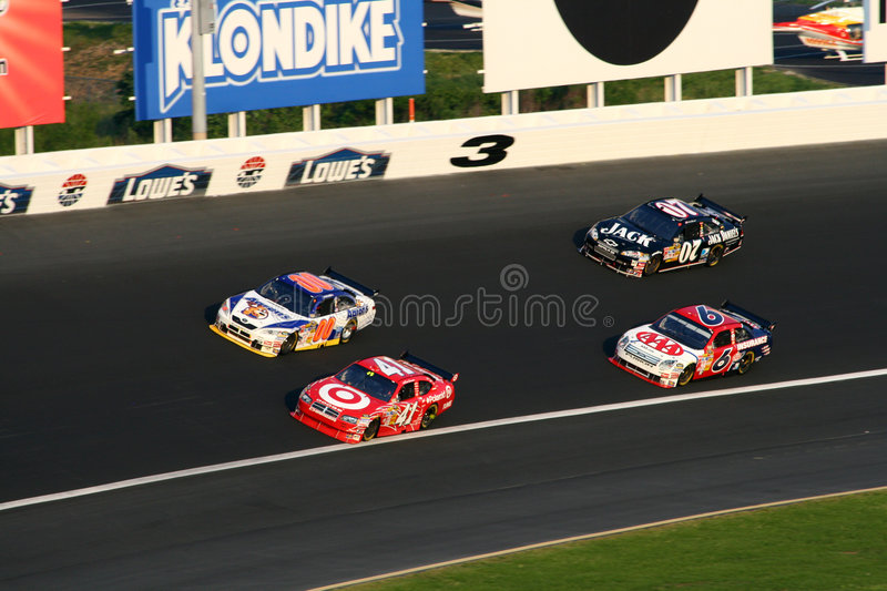 NASCAR - Turn 3 At Lowes Editorial Image