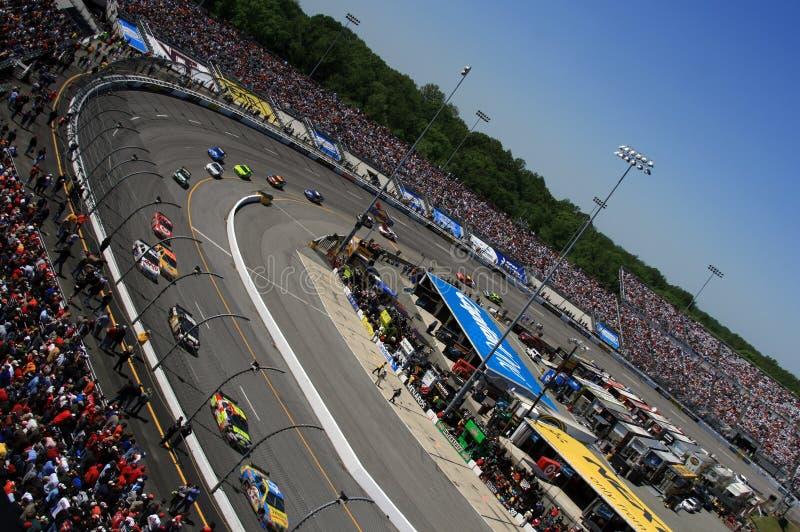 NASCAR - Uma vista diferente imagens de stock