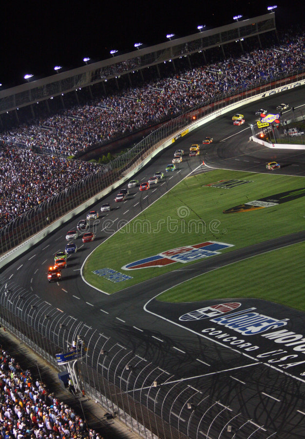 NASCAR - under caution at Lowes 2 stock images