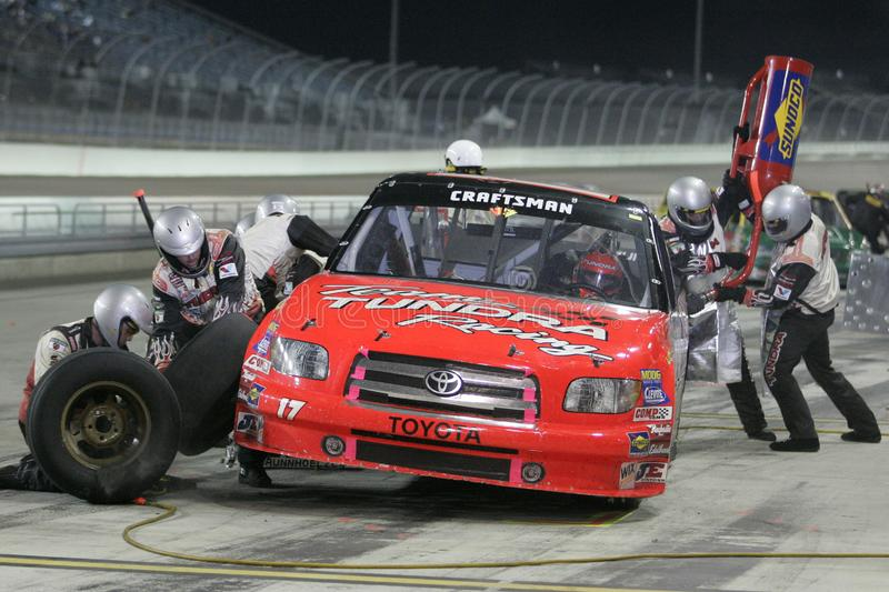 2006 NASCAR Vakman Truck Ford 200 stock foto's