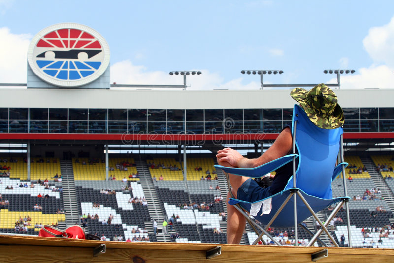 NASCAR - ventilador leal imagem de stock royalty free