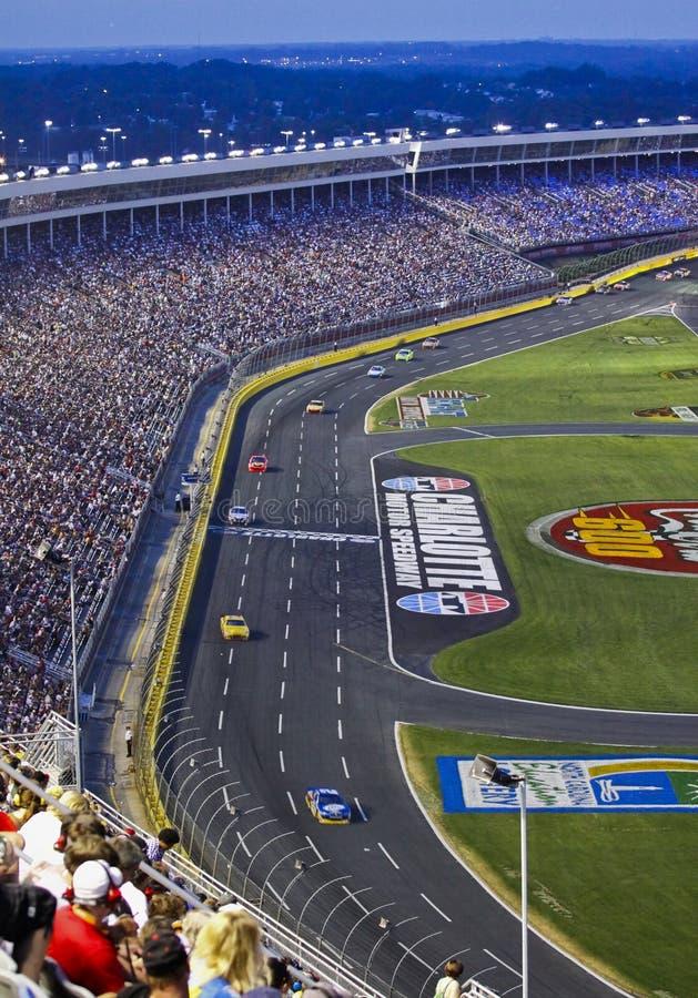 NASCAR - Ventiladores na coca-cola 600 em Charlotte fotografia de stock royalty free