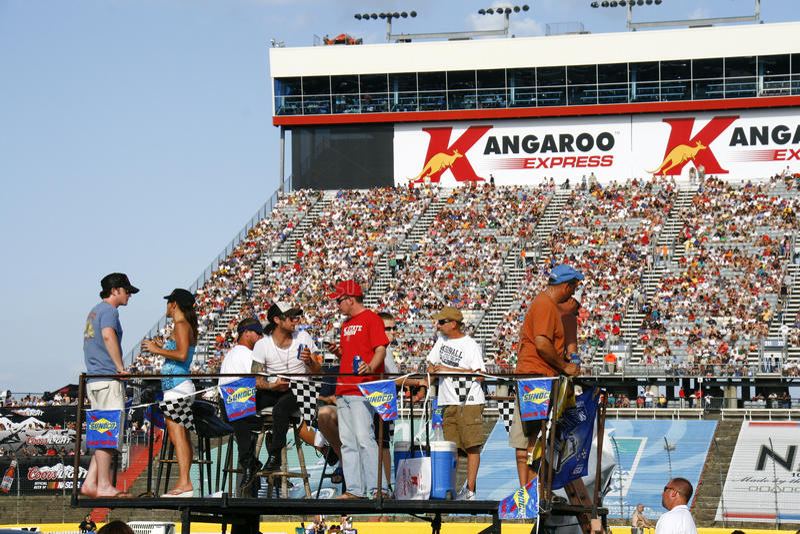 NASCAR - ventilators in infield in Charlotte royalty-vrije stock afbeelding