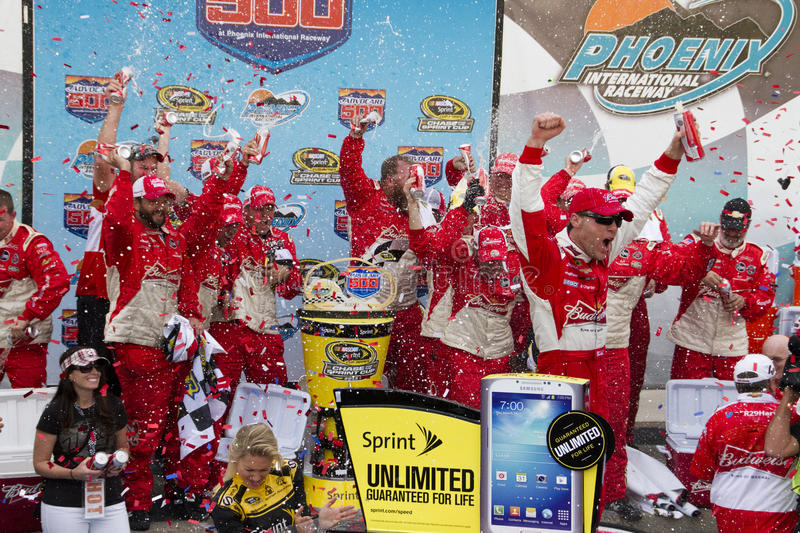 NASCAR Victory Lane no International Racew de Phoenix imagem de stock