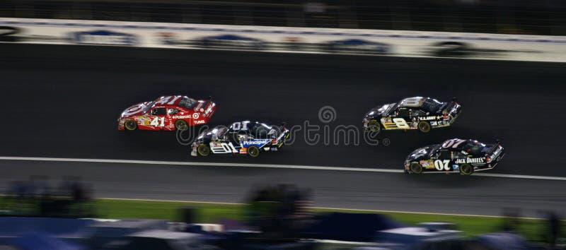 NASCAR - Vier Ruiters stock foto