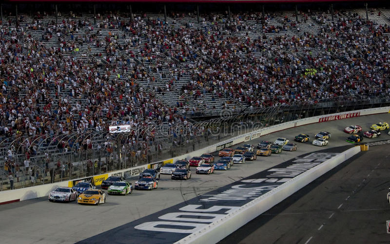 NASCAR : Ville 250 de nourriture du 21 août photos libres de droits