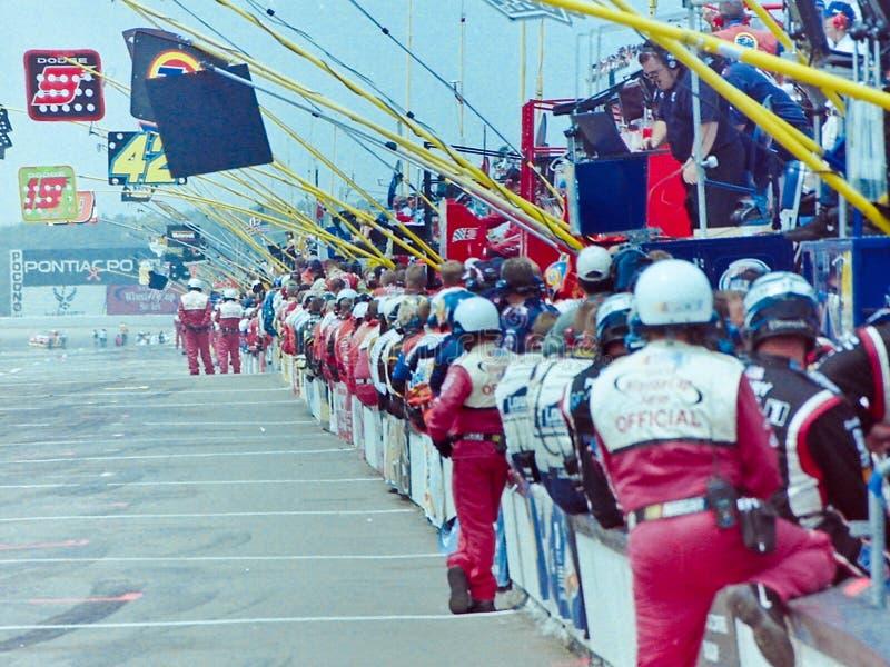 NASCARS de Rij van de kuil royalty-vrije stock foto
