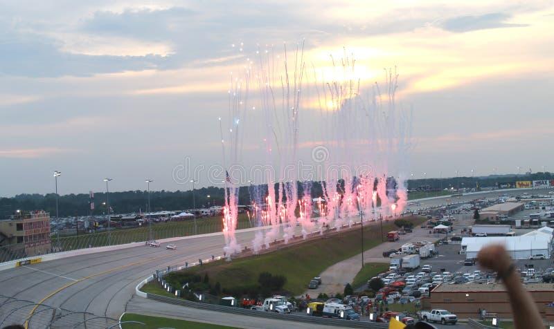 Nascarsprint kop-Atlanta Motor Speedway stock afbeeldingen