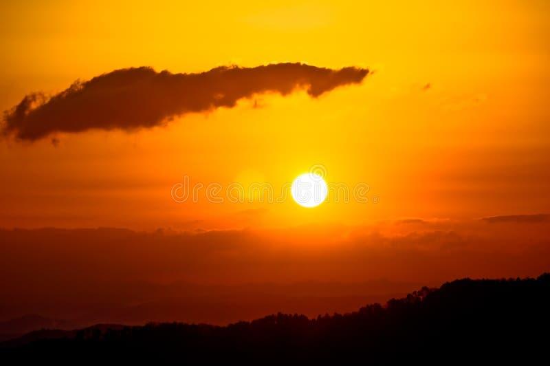 Nascer do sol imagens de stock