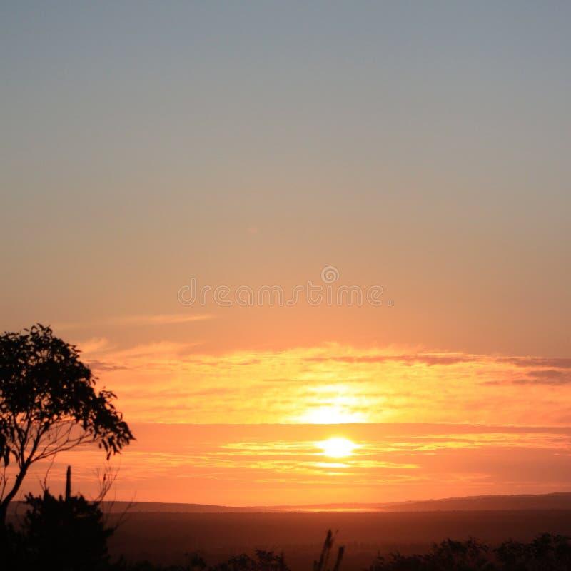 Nascer do sol australiano nenhuns filtros e nenhuma edição imagem de stock royalty free