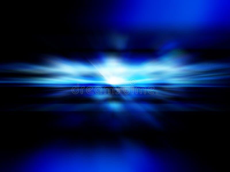 Nascer do sol azul ilustração do vetor
