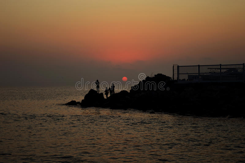 Nascer do sol bonito sobre o Mar Negro imagens de stock royalty free