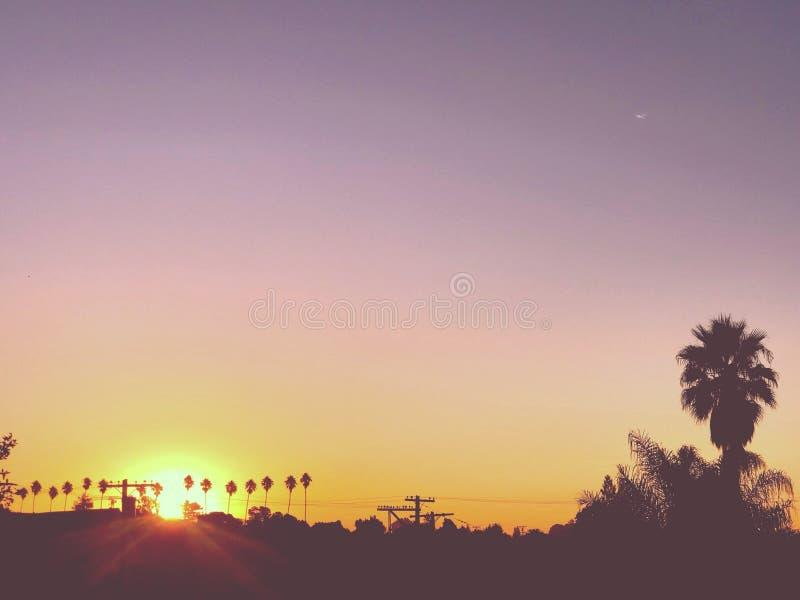 Nascer do sol da manhã de Oakland fotos de stock