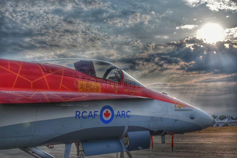 Nascer do sol da RCAF fotos de stock