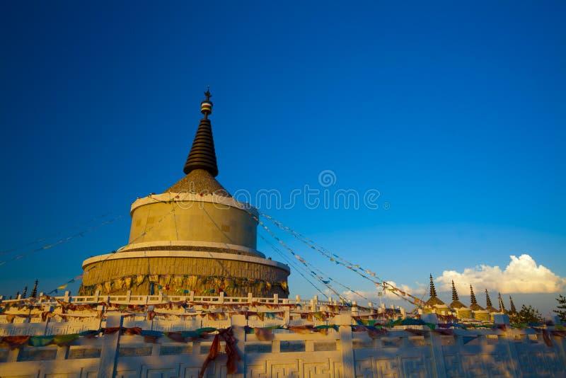 Nascer do sol da torre de Inner Mongolia foto de stock