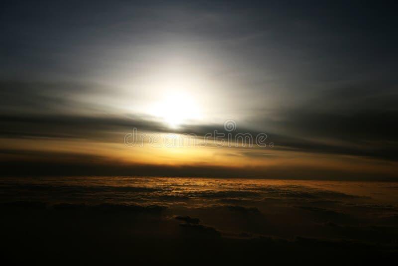 Nascer do sol das alturas foto de stock royalty free