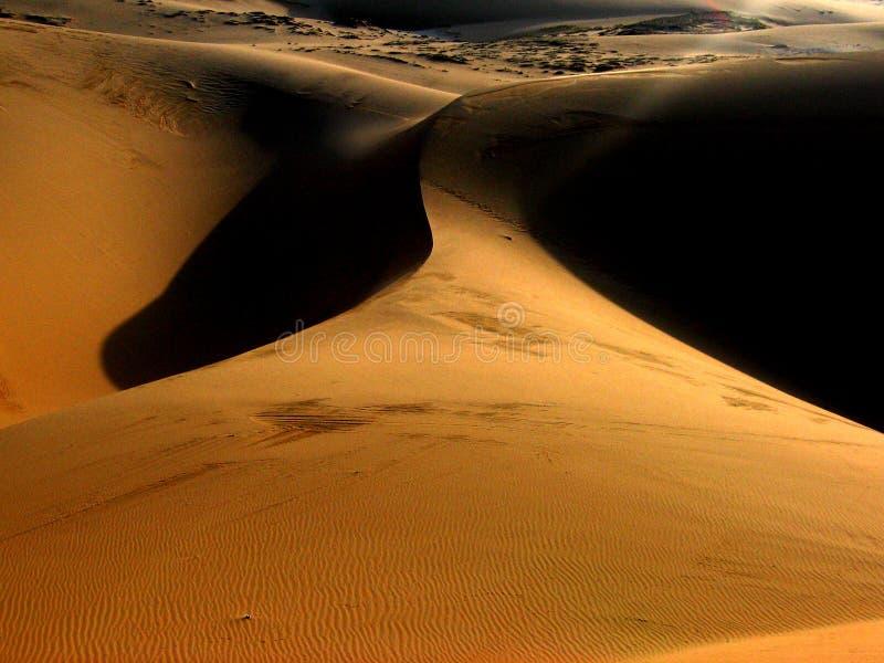 Nascer do sol das dunas de areia foto de stock