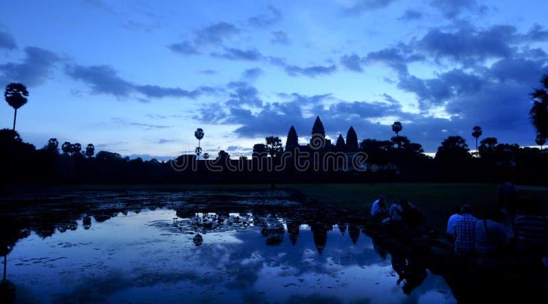 Nascer do sol de Angkor Wat imagens de stock royalty free