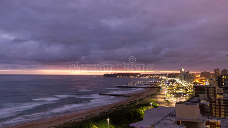 Nascer do sol de Durban fotografia de stock royalty free