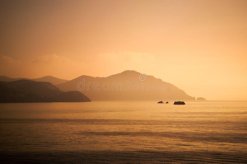 Nascer do sol de Ibiza fotografia de stock royalty free