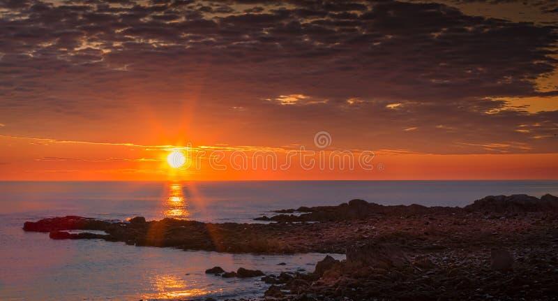 Nascer do sol de Maine imagem de stock royalty free
