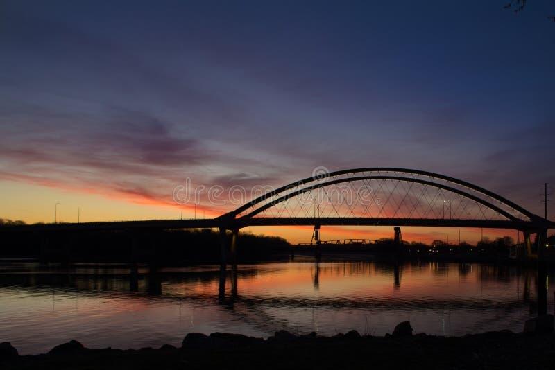 Nascer do sol de Minnesota imagens de stock royalty free