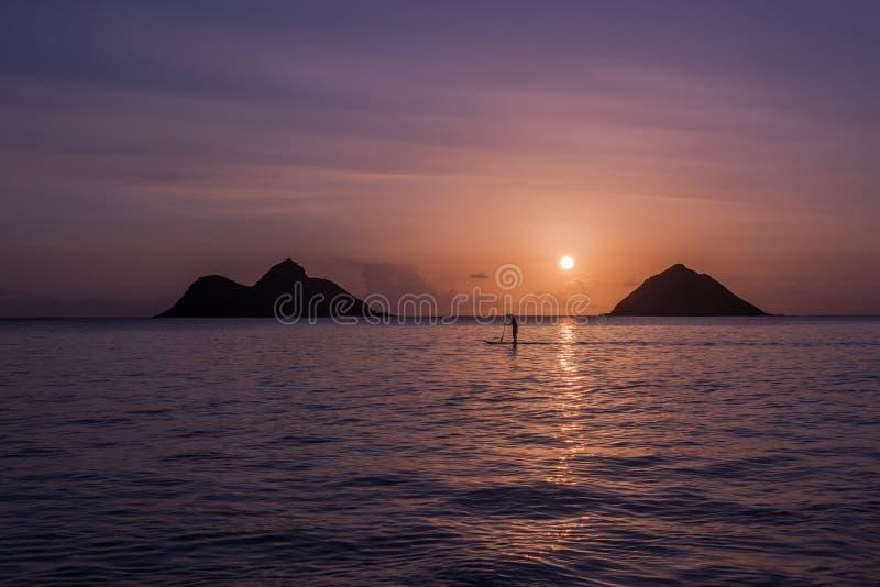 Nascer do sol de Oahu imagem de stock