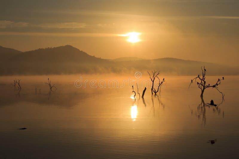 Nascer do sol de Pilanesberg fotografia de stock royalty free