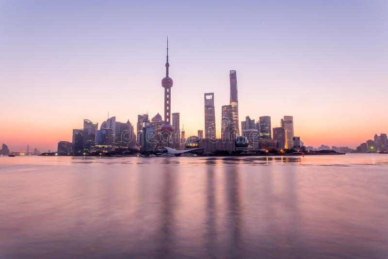 Nascer do sol de Shanghai imagens de stock royalty free