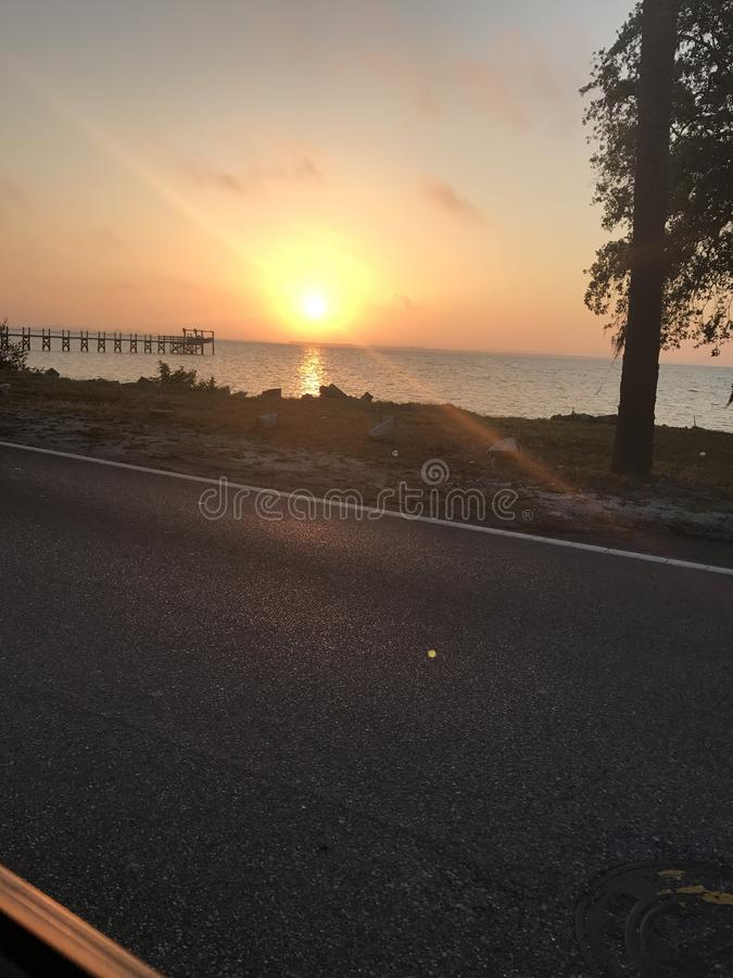 Nascer do sol de Tampa foto de stock royalty free