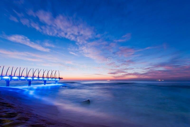 Nascer do sol de Umhlanga, África do Sul foto de stock