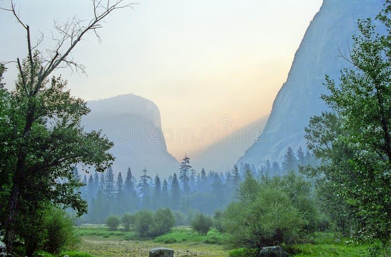 Nascer do sol de Yosemite foto de stock