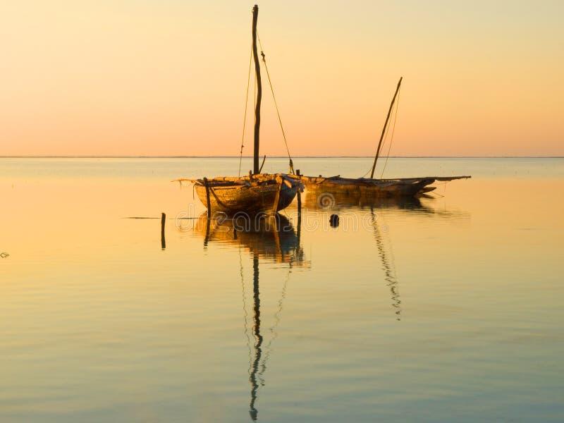 Nascer do sol de Zanzibar foto de stock royalty free