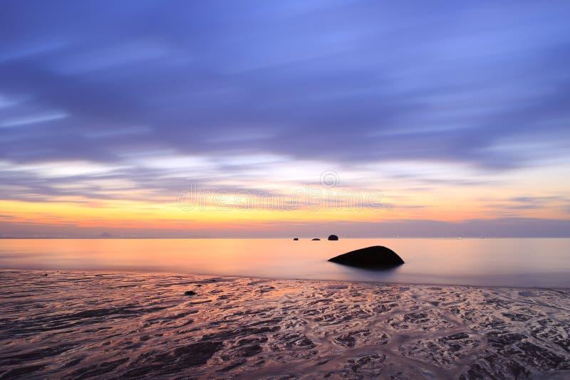 Nascer do sol do beira-mar fotografia de stock