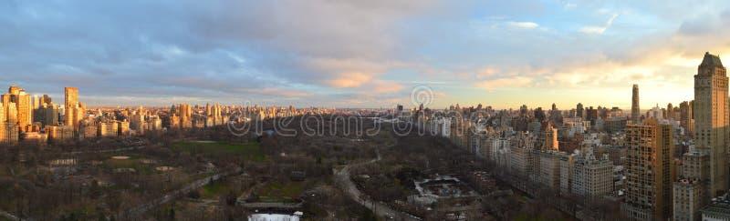 Nascer do sol do Central Park de New York fotos de stock